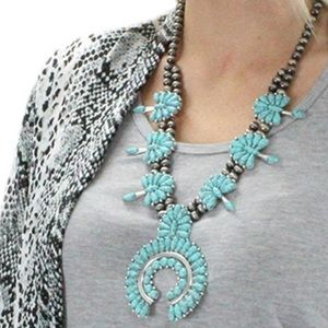 Turquoise Statement Piece Necklace